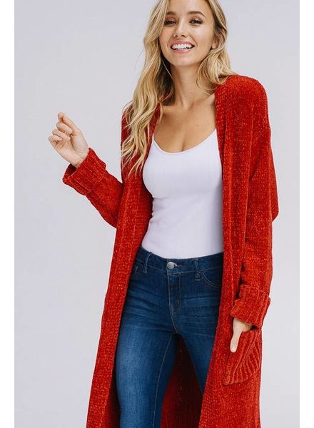 MISC Cezanne Long Cardigan Ruby Red