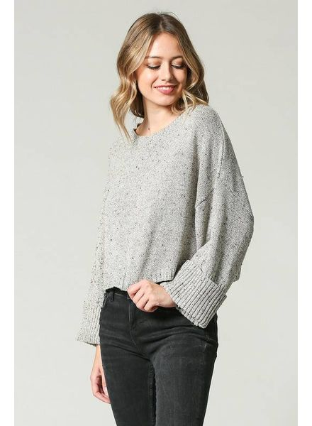 Illa Illa ILLA ILLA Crop Sweater Speckled Taupe