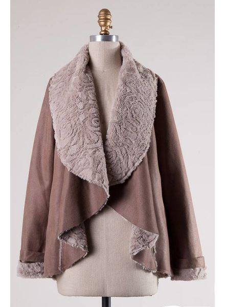 HYFVE HYFVE Faux Fur Lined Jacket Taupe