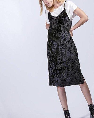 Hyfve Crushed Velvet Dress Black Social Rose