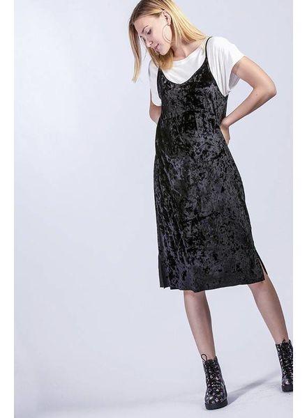 HYFVE HYFVE Crushed Velvet Dress Black