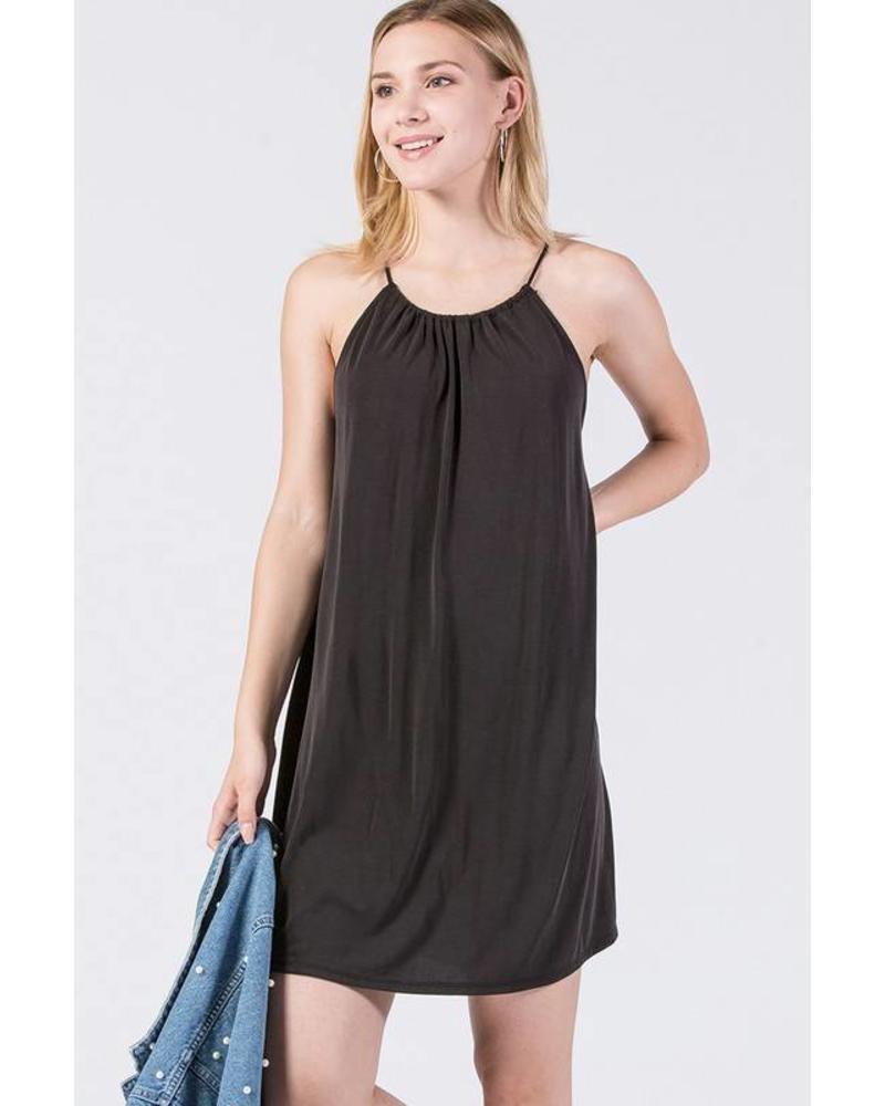 bb36afde0134 HYFVE Modal Flowy Dress Black - Social Rose