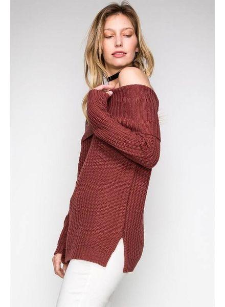 HYFVE HYFVE Off Shoulder Sweater