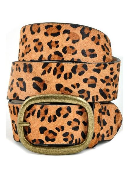 Anzell Leopard Belt Wide Buckle