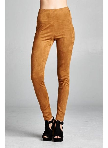 Wendy WEN Suede Leggings Camel
