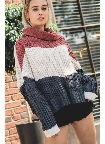 POL POL Chunky Striped Sweater
