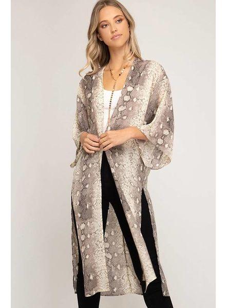 She & Sky She & Sky Snakeskin Kimono