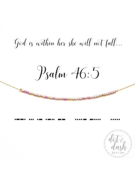 Dot & Dash Dot & Dash Psalms 46:5 God is Within Her