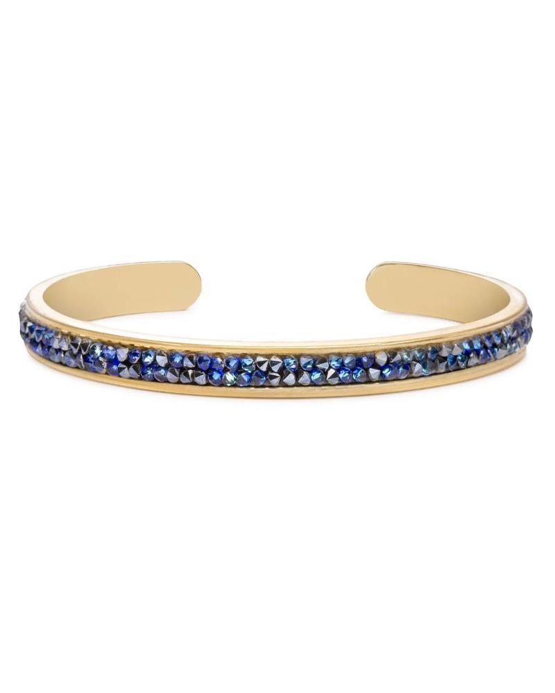 LUCA & DANNI LUCA BLUE DRUZY CUFF GOLD 709248466035