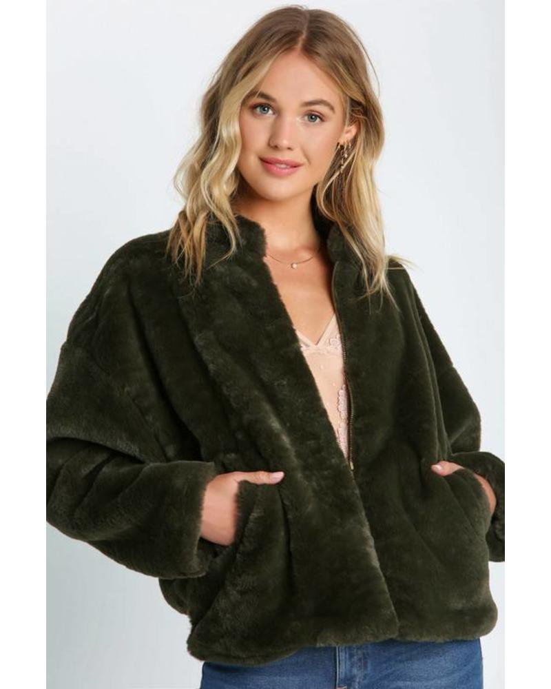 One & Only Collective One & Only Faux Fur Jacket