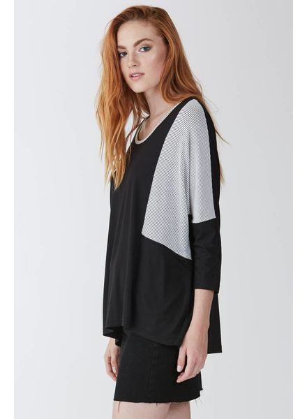 Another Love Another Love Block Striped Tunic Black