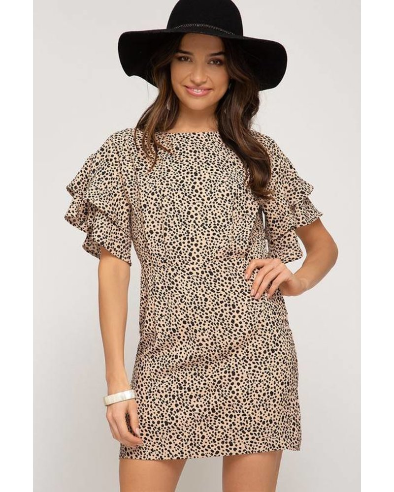 She & Sky She & Sky Leopard Print Dress