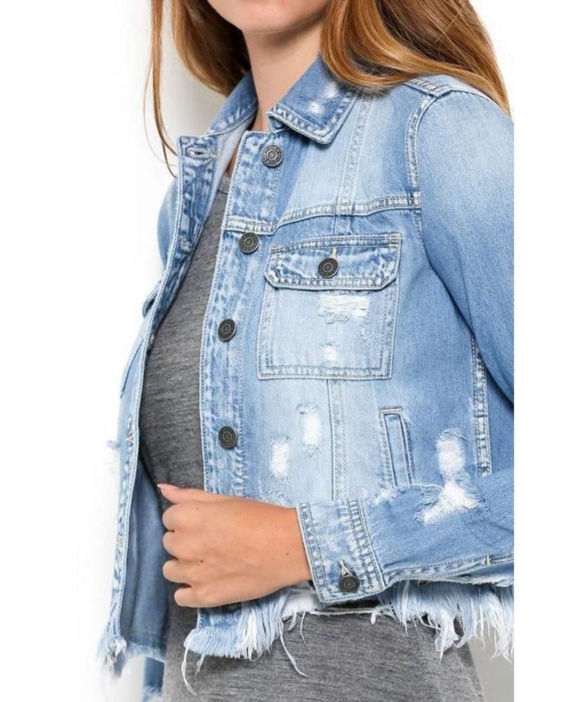 Hidden Jeans Hidden Frayed Denim Jacket