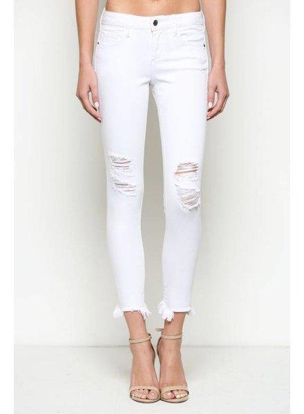 Hidden Jeans Hidden Cropped Jean Frayed Hem White