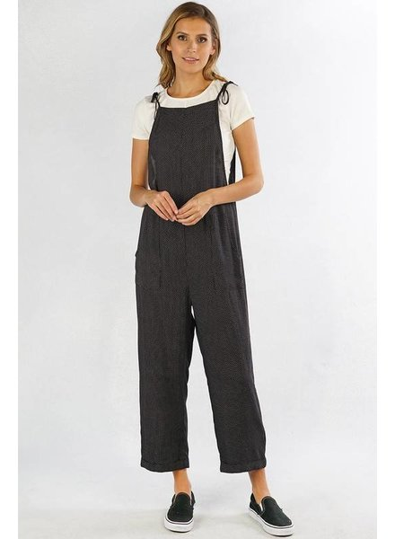 Love Stitch Love Stitch Dotted Jumpsuit Black