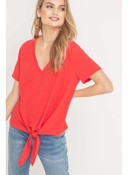 Lush Lush Tie Top Red