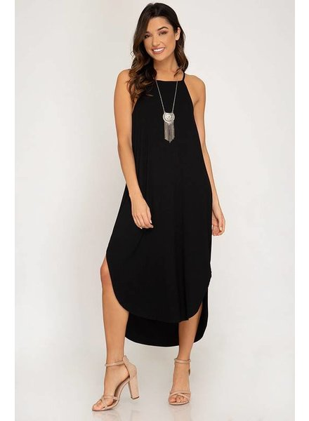 She & Sky She & Sky Halter Top Black Long Dress