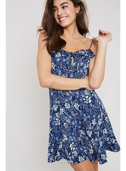 Wishlist Wishlist Floral Printed Dress Navy