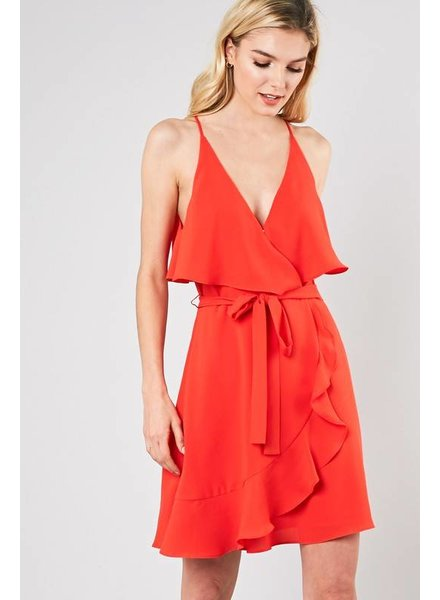 DO + BE Do + Be Cami Dress Red Orange