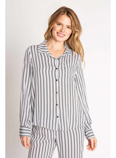 PJ Salvage PJ Salvage Striped Black/White Top