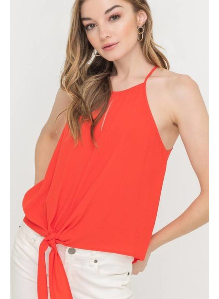 Lush Lush Sleeveless Tie Top
