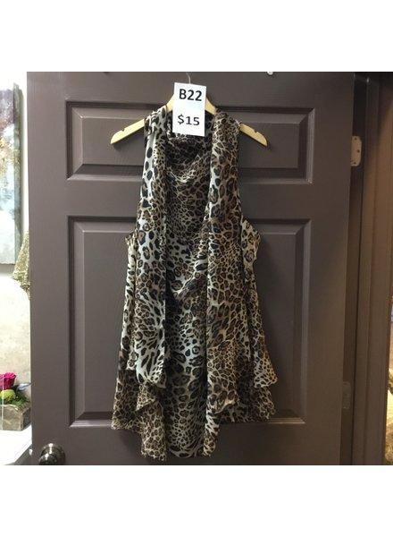 MISC Leopard Wrap Kimono O/S