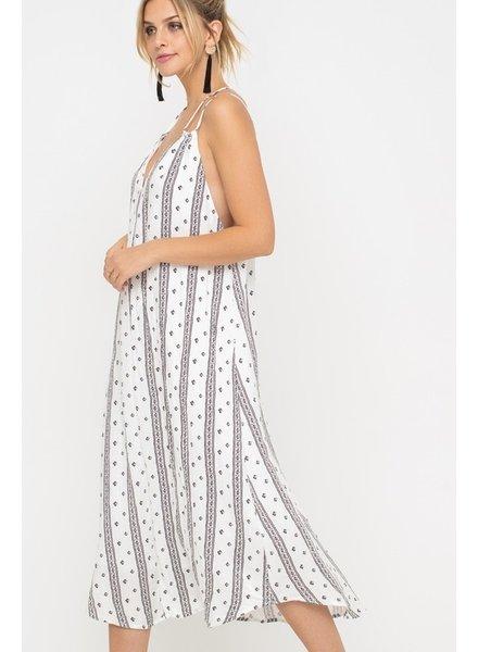 Lush Lush Maxi Dress Black & White Print