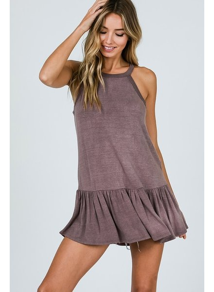 MISC CY Sleeveless Ruffle Top Vintage Charcoal