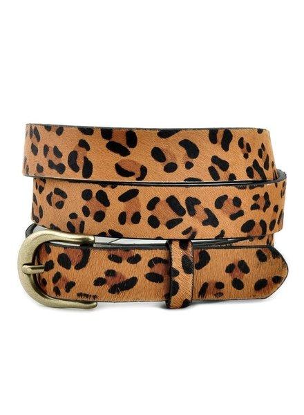 Anzell Leopard Medium Width Belt