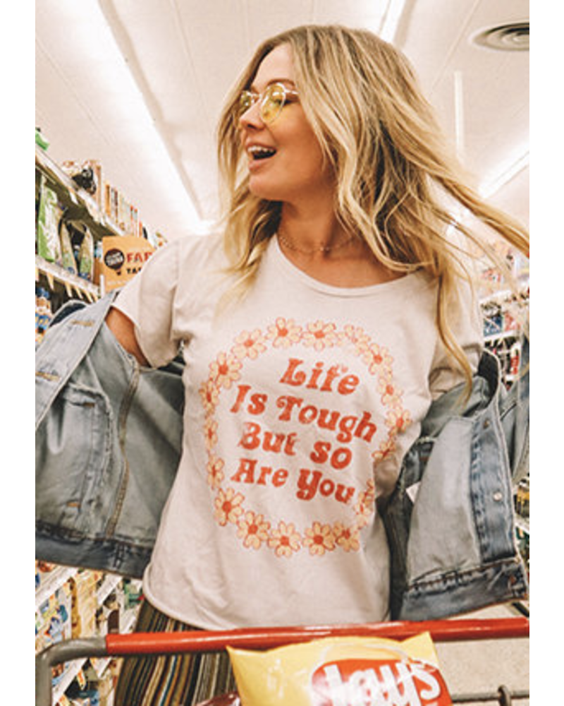 Wendy WEN Life is Tough Crop Tee Cream