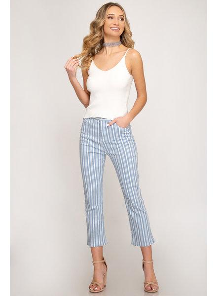 She & Sky She & Sky Summer Striped Pant