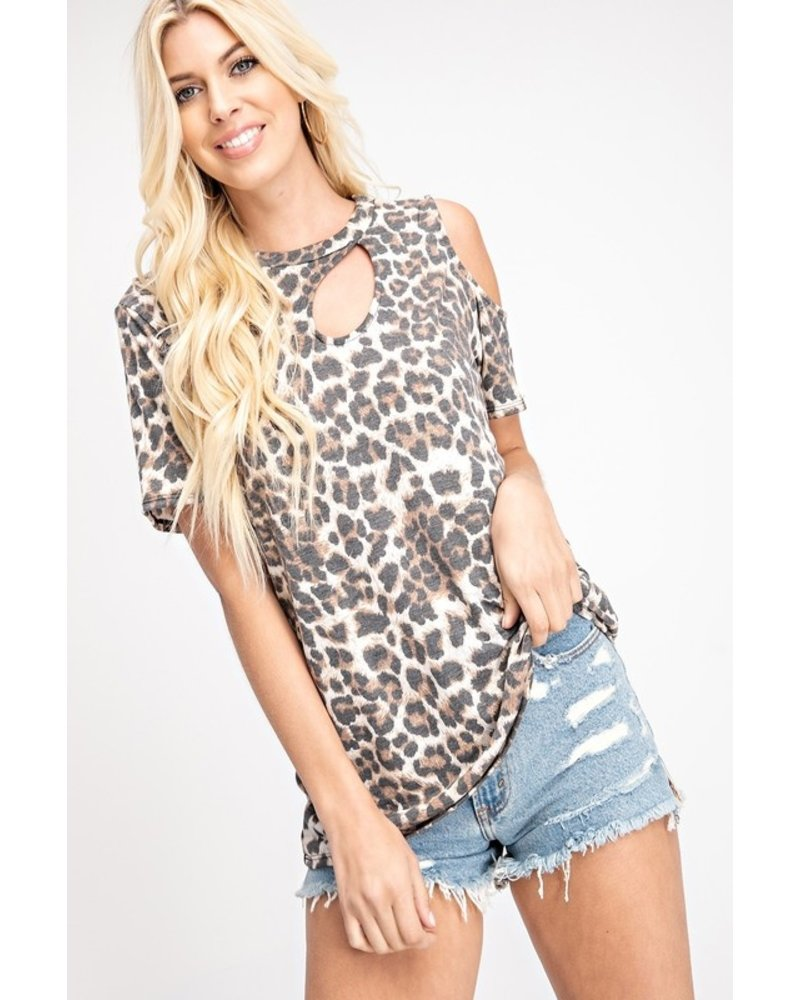 143 Story 143 Story Cut Out Top Leopard