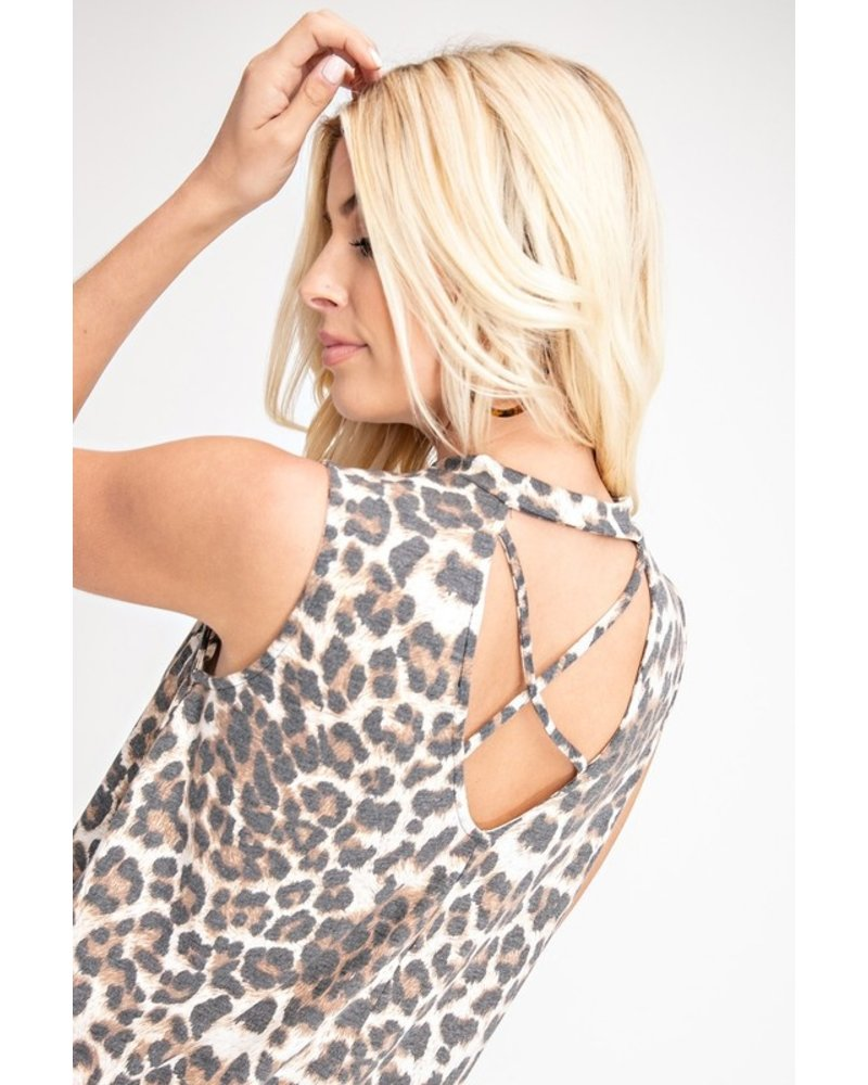 143 Story 143 Story Tie Top Leopard