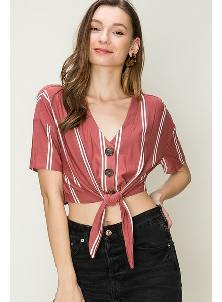 HYFVE HYFVE Rust Tie Top Striped