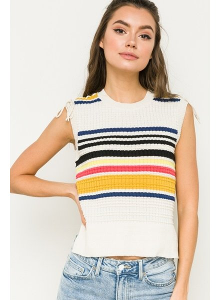 Hem & Thread Hem & Thread Striped Tank Sweater