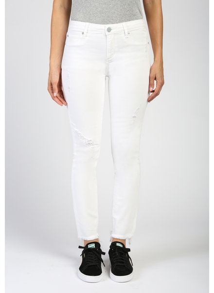 AOS AOS Carly Skinny Crop White Denim