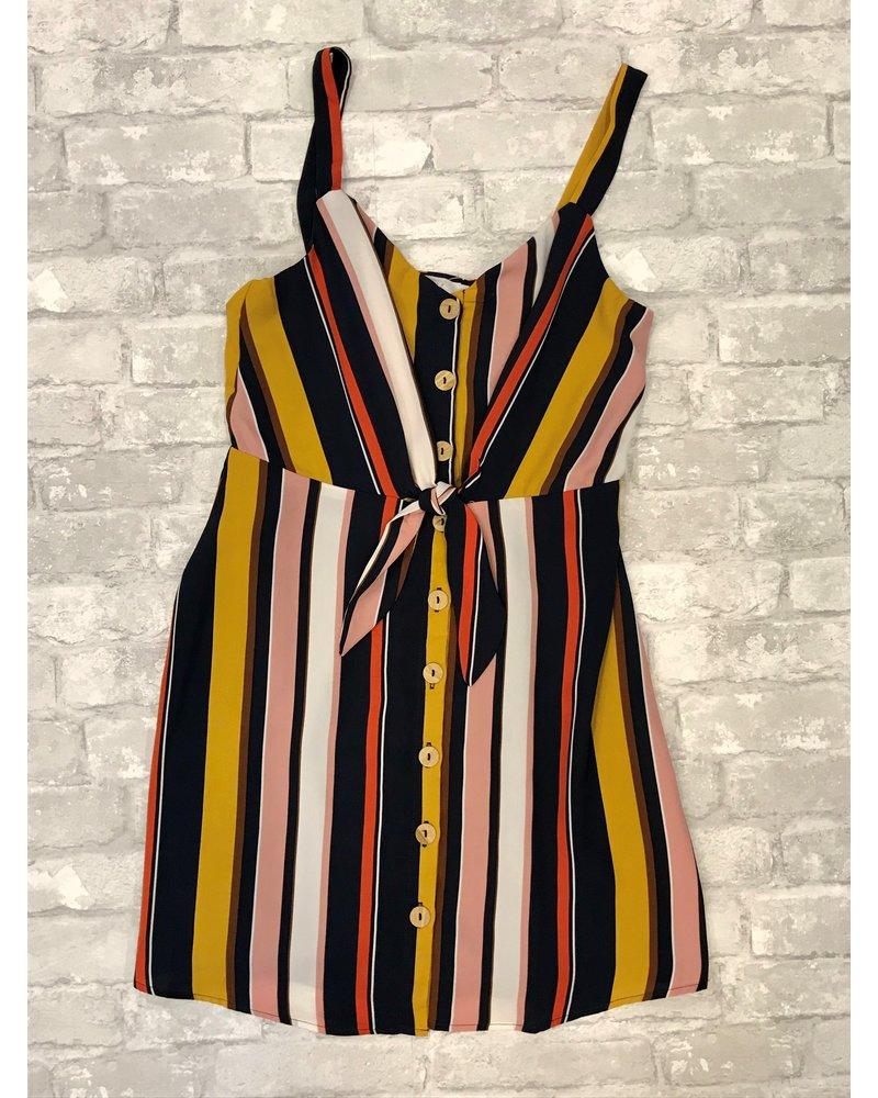 Lush Lush Printed Tie Top Dress