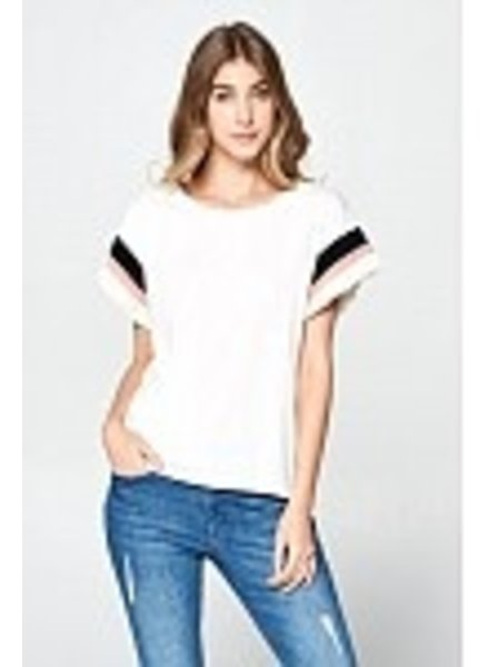 Wendy WEN Ellison Banded Sleeves Tee
