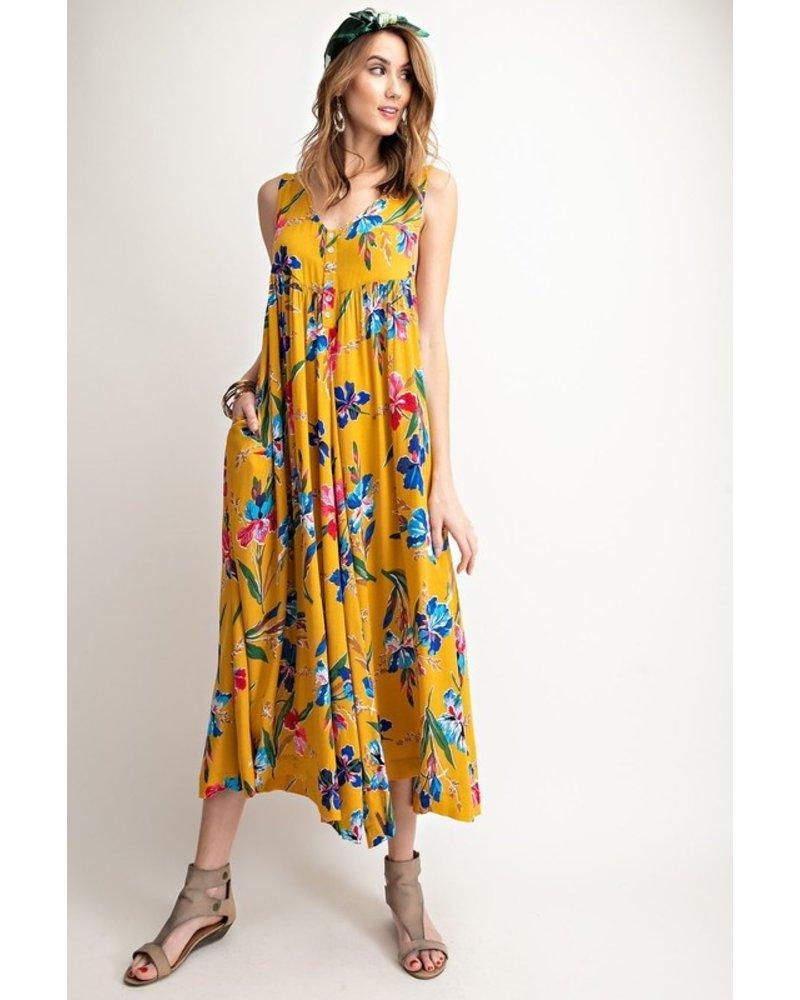 Easel Easel Floral Jumpsuit