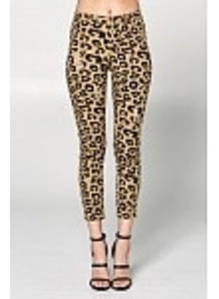 Wendy WEN Ellison Leopard Denim