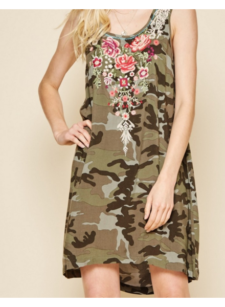 Wendy WEN Camo Dress Emb Short