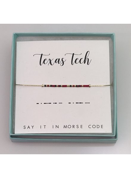 Dot & Dash Dot & Dash Texas Tech BRACELET
