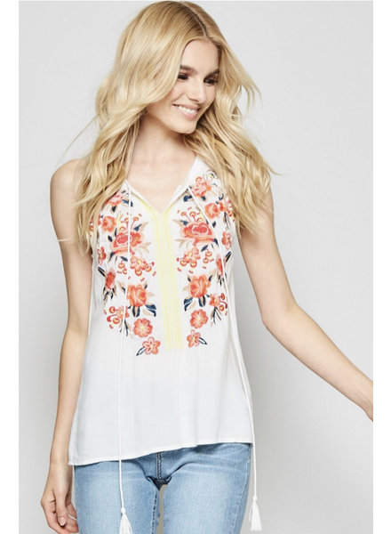 3a52aa5b03 WEN Andree White Halter Top Emb