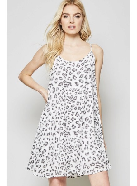 Wendy WEN Dress Leopard White