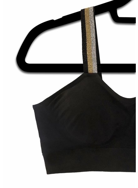 Strap Its Strap It Bra Black Metallic Tricolor