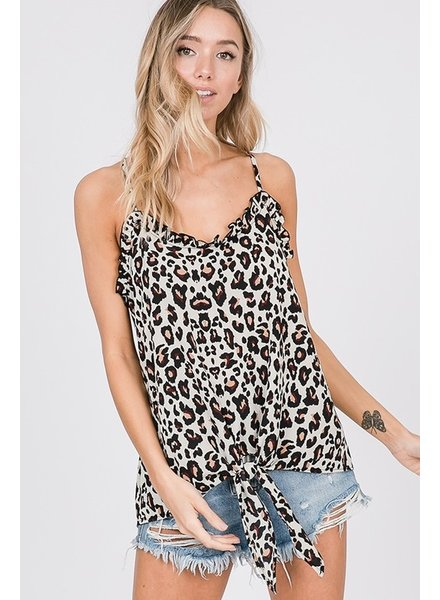 Cy Fashion CY Leopard Spaghetti Strap Tank