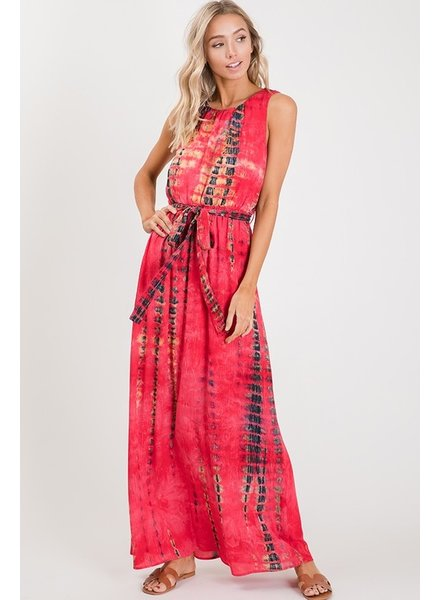 MISC Maxi Dress Red Tie Dye