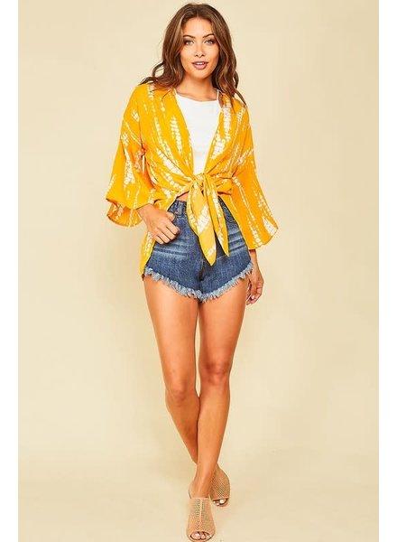Peach Love Peach Love California Kimono Golden Yellow
