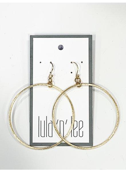 Lula n Lee Lula n Lee Golden Hoop Earring