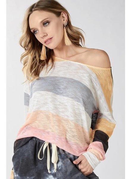 BIBI Bibi Multi Stripe Top Blush